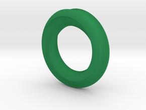 Helix Moebius in Green Processed Versatile Plastic