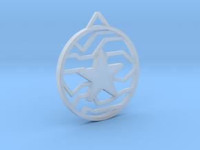 Winter Soldier Star Pendant (Large) in Smooth Fine Detail Plastic