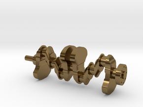 Motor part. crankshaft in Polished Bronze