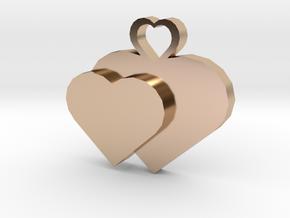 Heart2heart Pendant in 14k Rose Gold