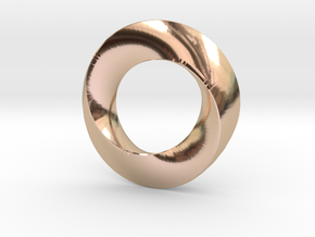 twisted moebius  in 14k Rose Gold Plated Brass