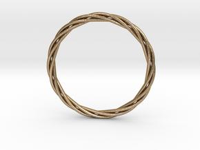 twisted bracelet in Polished Gold Steel
