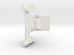 Airsoft MP7 Mag Release Lever in White Natural Versatile Plastic
