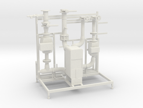Pump Station Scale model in White Natural Versatile Plastic