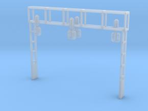 Signalbrücke Zweispurig Spur Z (1:220) in Smoothest Fine Detail Plastic