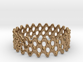 Lattice Ring No.1 in Polished Brass