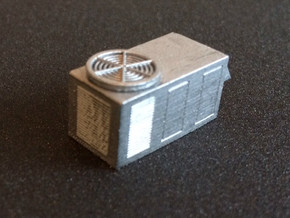 N Scale rooftop HVAC Unit (2pc) in Smooth Fine Detail Plastic