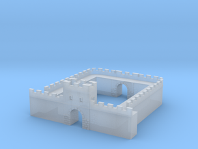 Roman Wall Milecastle  in Smooth Fine Detail Plastic