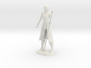 Female Elf Wizard in White Natural Versatile Plastic
