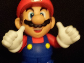 Thumbs Up Hands for S.H. Figuarts Mario / Luigi in White Strong & Flexible Polished