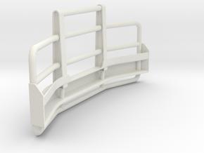 Bull-bar-Valueliner-hood-II in White Natural Versatile Plastic