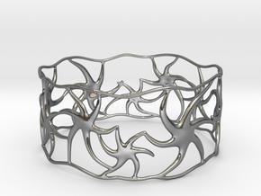 Star Bracelet in Polished Silver