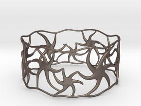 Star Bracelet in Polished Bronzed Silver Steel