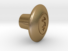 Shooter Rod Knob - $ / Money in Polished Gold Steel