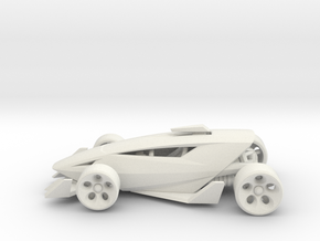 Shredder Race Car Toy in White Strong & Flexible