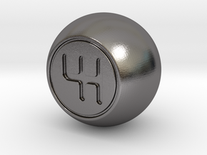 Shooter Rod Knob - GEAR Shift Ball in Polished Nickel Steel