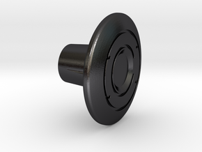 Shooter Rod Knob - Identity Disc - 1 in Polished and Bronzed Black Steel