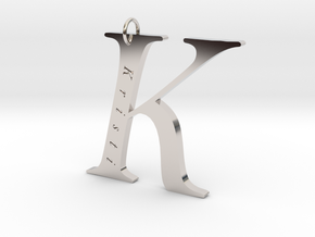 K Gold 18 Personalized in Platinum