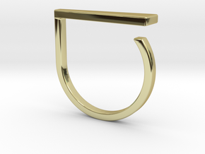 Adjustable ring. Basic model 9. in 18k Gold Plated Brass