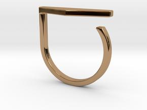 Adjustable ring. Basic model 11. in Polished Brass