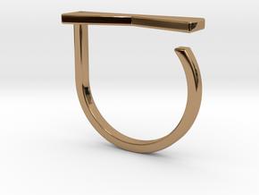 Adjustable ring. Basic model 12. in Polished Brass