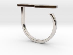 Adjustable ring. Basic model 13. in Rhodium Plated Brass