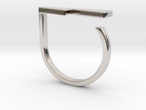 Adjustable ring. Basic model 14. in Rhodium Plated Brass