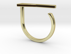 Adjustable ring. Basic model 15. in 18k Gold Plated Brass
