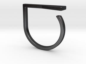 Adjustable ring. Basic model 16. in Polished and Bronzed Black Steel