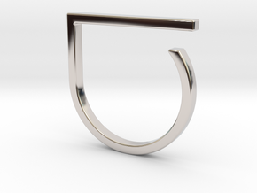 Adjustable ring. Basic model 0. in Rhodium Plated Brass