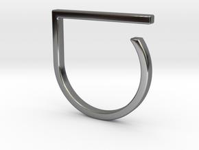 Adjustable ring. Basic model 0. in Fine Detail Polished Silver