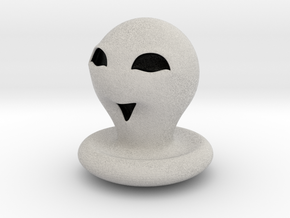 Halloween Character Hollowed Figurine: CuteGhosty in Full Color Sandstone