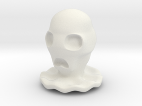 Halloween Character Hollowed Figurine: CreepyGhost in White Natural Versatile Plastic