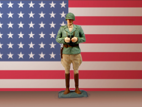 General George S. Patton in White Natural Versatile Plastic