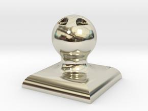 "1.5""x1.5"" Customizable Stamper/Seal in 14k White Gold"