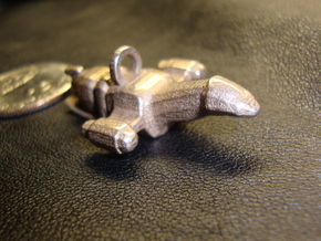 Ship Pendant in Polished Bronzed Silver Steel