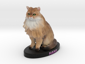 Custom Cat Figurine - Hana in Full Color Sandstone