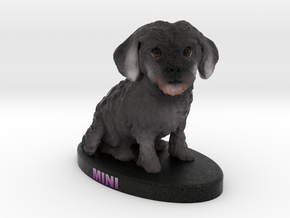 Custom Dog Figurine - Mini in Full Color Sandstone