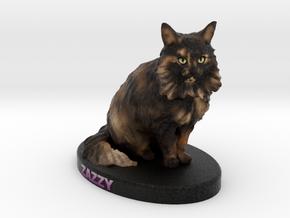 Custom Cat Figurine - Zazzy in Full Color Sandstone