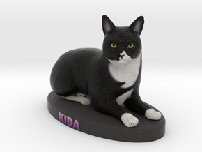 Custom Cat Figurine - Kida in Full Color Sandstone