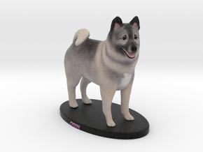 Custom Dog Figurine - Odin in Full Color Sandstone
