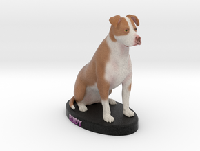 Custom Dog Figurine - Rudy in Full Color Sandstone