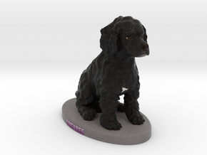 Custom Dog Figurine - Antares in Full Color Sandstone