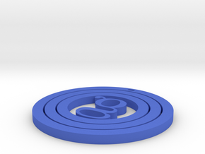 Coaster Round in Blue Strong & Flexible Polished
