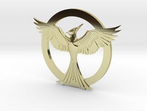 Mockingjay Pendant in 18k Gold Plated Brass