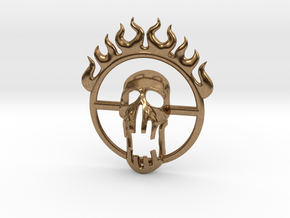 Mad Max Fury Road inspired pendant in Natural Brass: Small