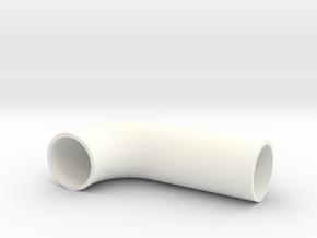 Rør Bend in White Processed Versatile Plastic