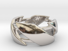 US8.5 Ring III in Rhodium Plated Brass