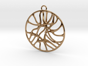 'Connect' Pendant in Polished Brass