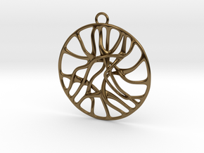 'Connect' Pendant in Polished Bronze
